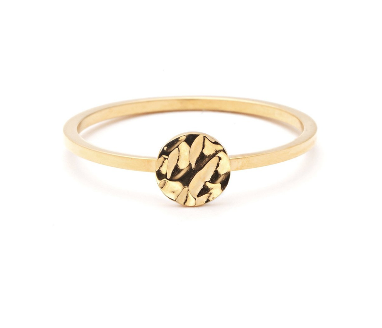 Pastiche Gold Moon Ring - $35