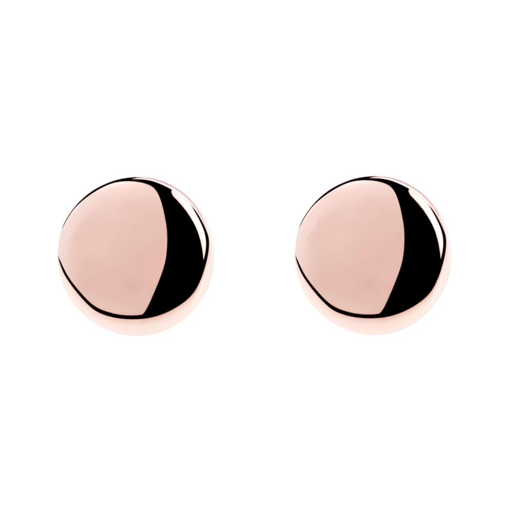 Najo Rose Circle Stud Earrings - $49