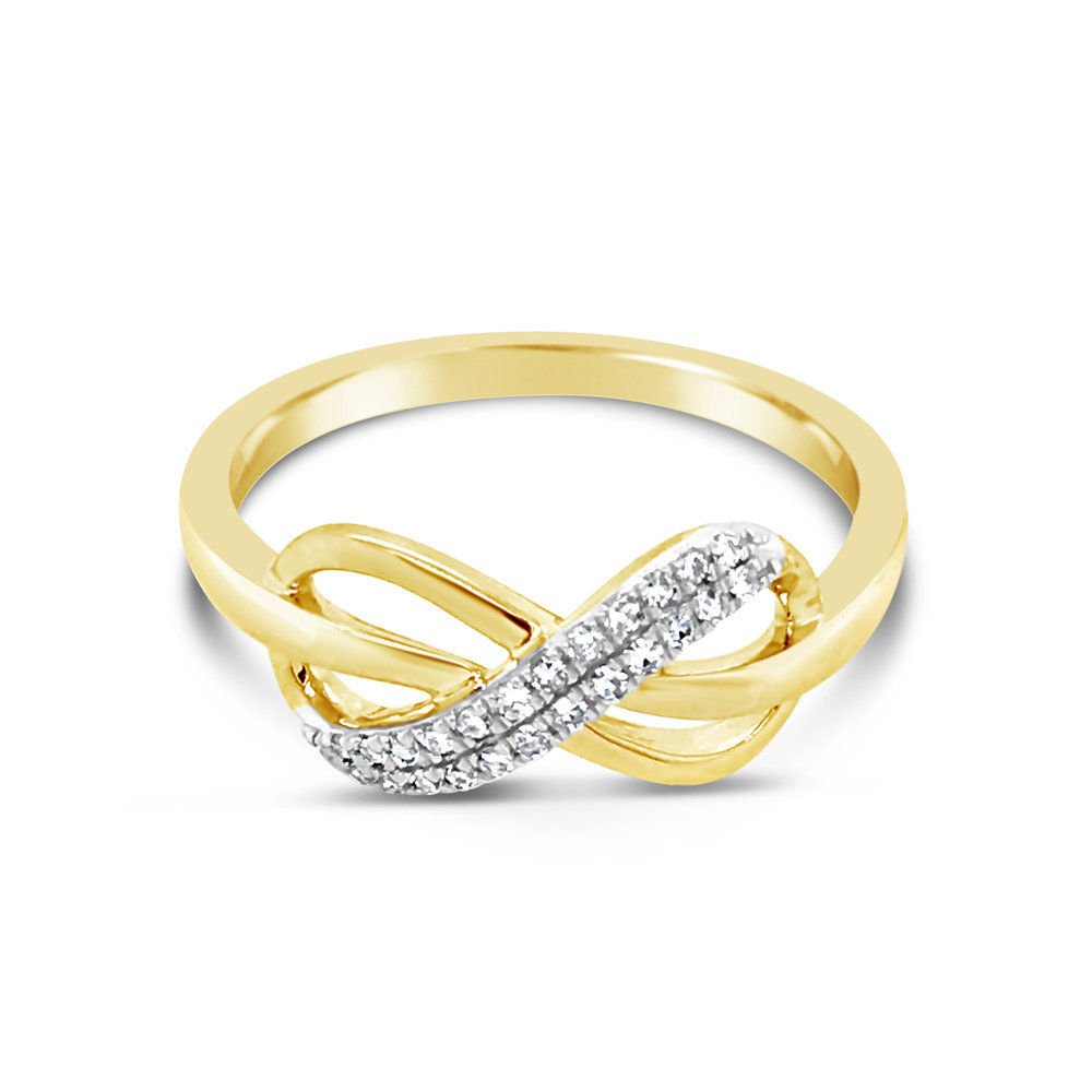 Gold Infinity Ring - $549