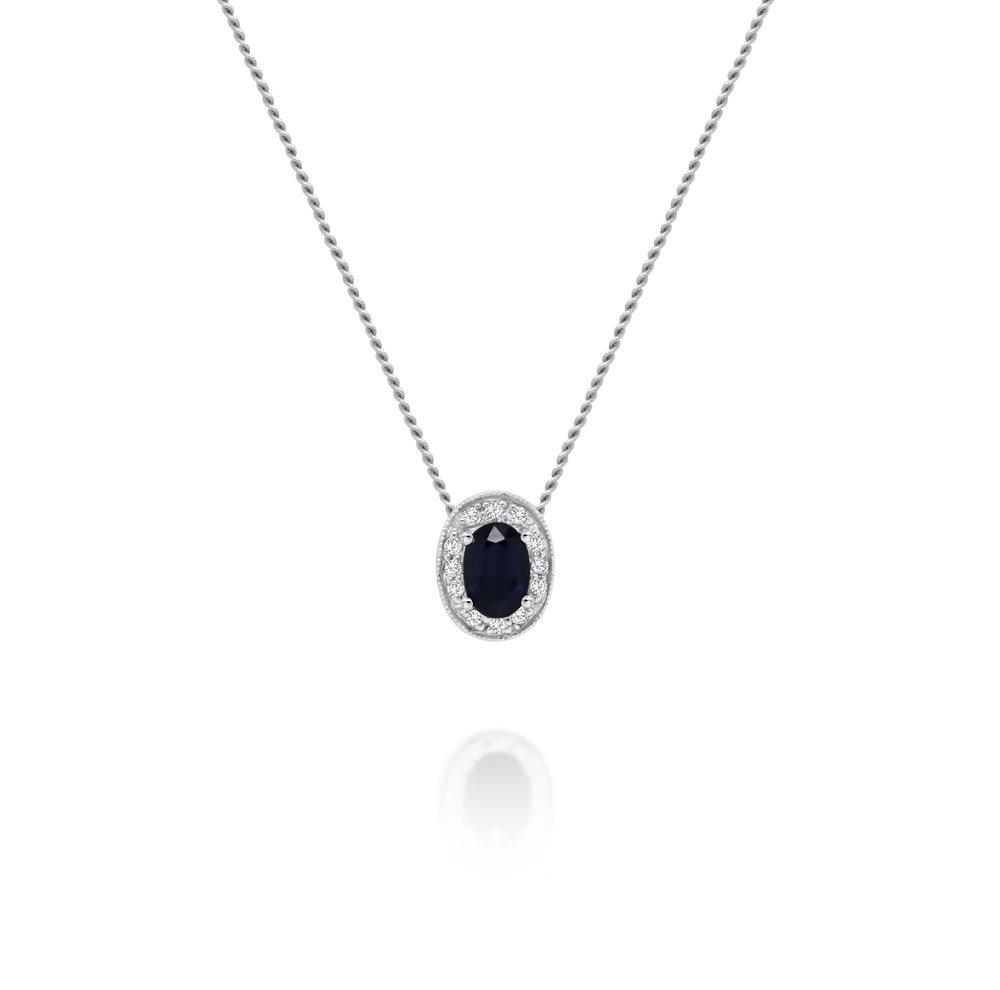 Sapphire & Diamond Pendant - $399