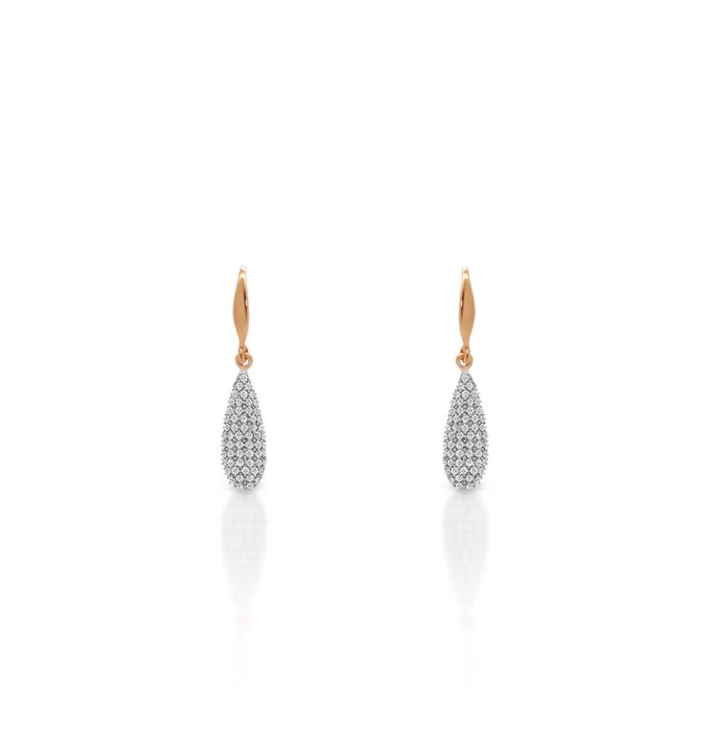 Briolette Diamond Earrings - $575