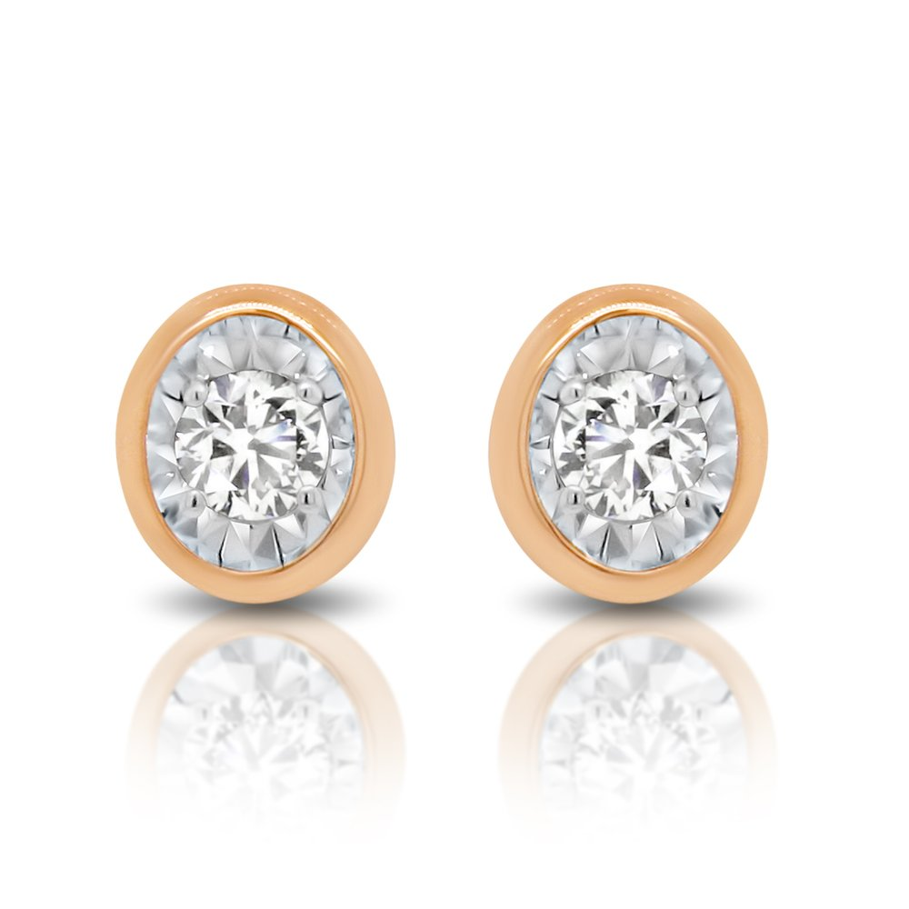 Diamond Solitaire Earrings - $499