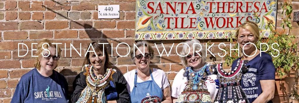 Traveling mosaic teacher! Destination workshops