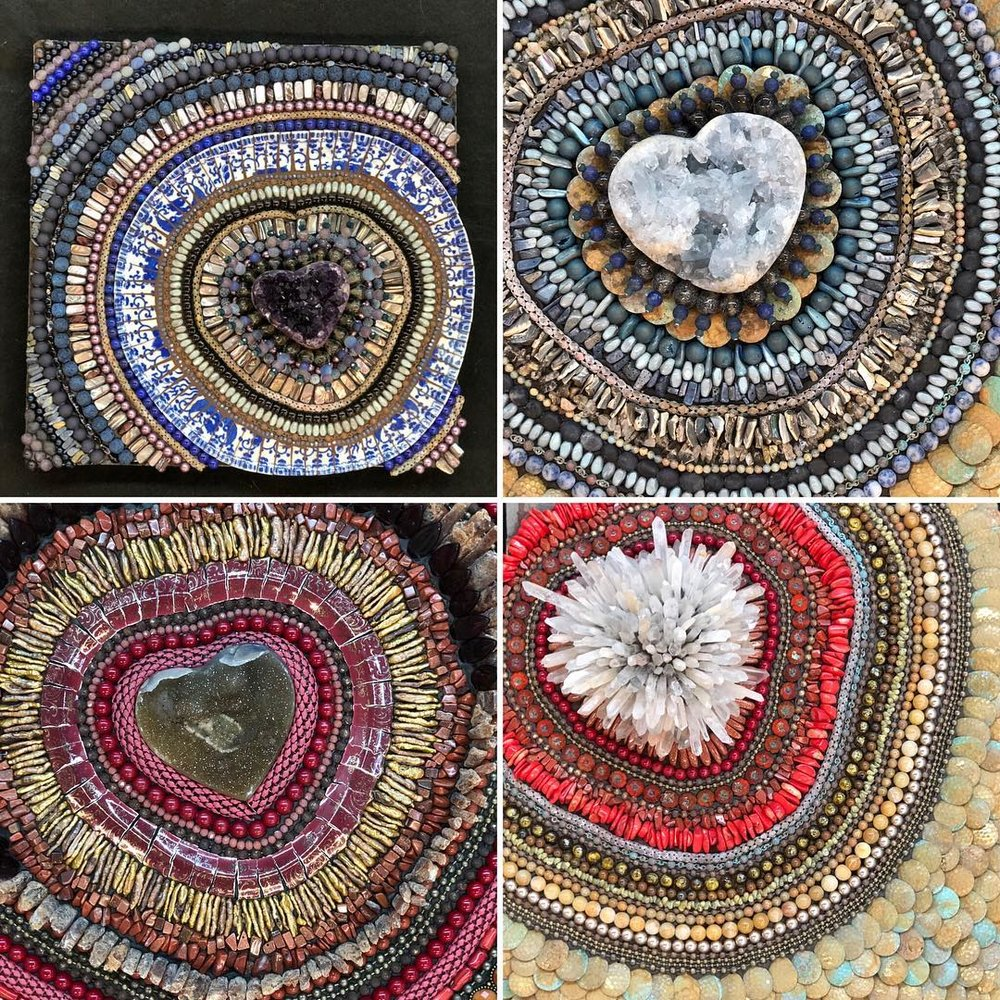 a collection of heARTs - yes, all of these new pieces are for SALE.