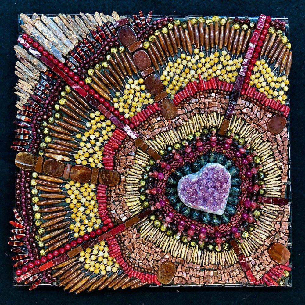 """Native Heart, 12"""" X 12"""" ($980)"""