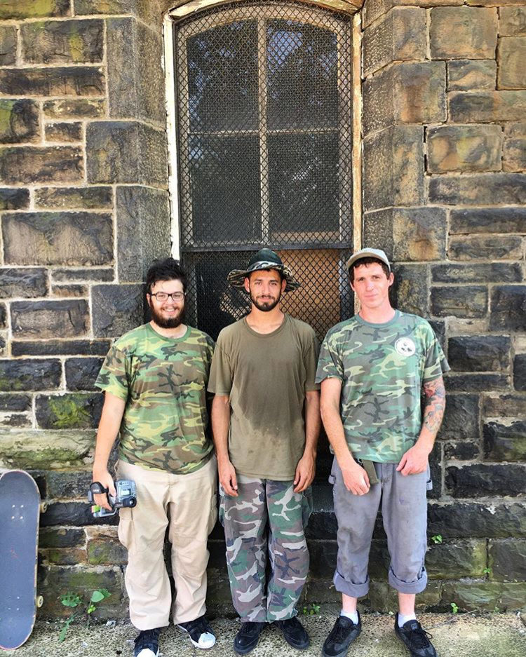 Right to left: Manny Valdes, Josh Narvaez, and another fan of camo.