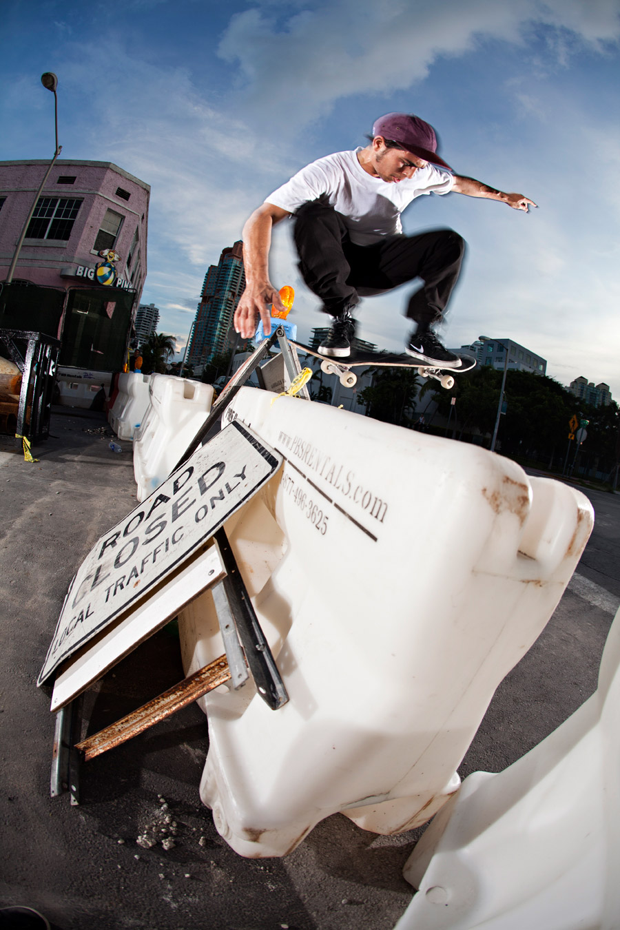 Koki makes good use of the constant construction zone gold with this switch wallie. Shot by Jason Henry.