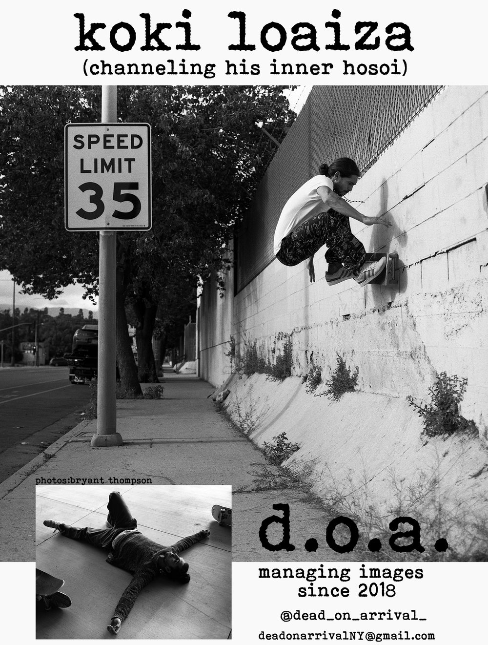 Koki's first published ad for D.O.A.