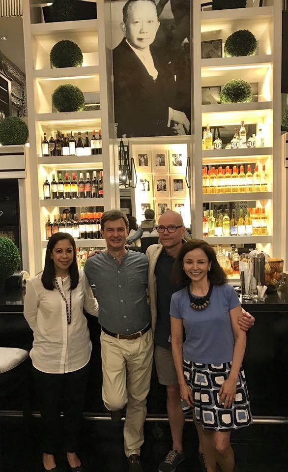 Two Michelin star chef Magnus Ek of Sweden and Swedish Ambassador's wife, Susan Batumbacal Fries