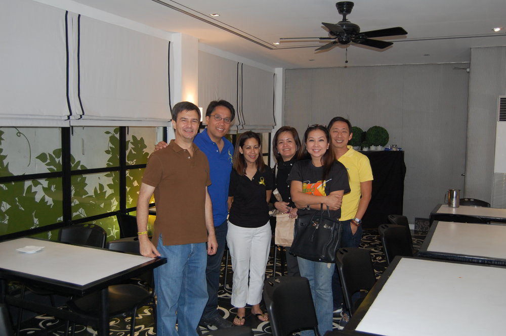 With Mar Roxas, ABS-CBN's Ging Reyes, and Korina Sanchez Roxas