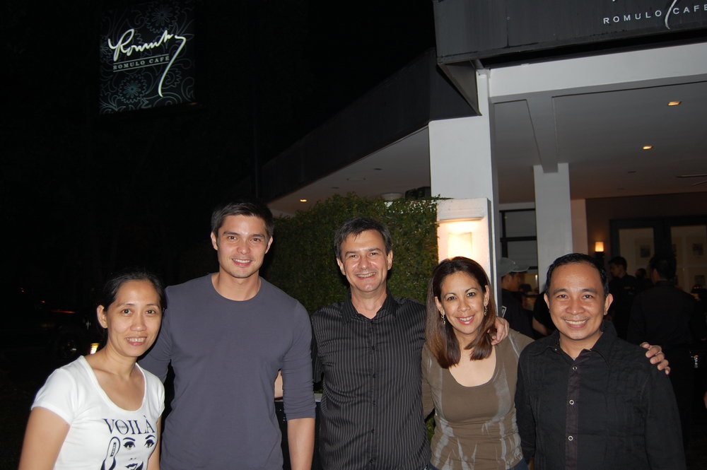 Dingdong Dantes with Irene Montemayor, the Squillantinis and Gilbert Caras