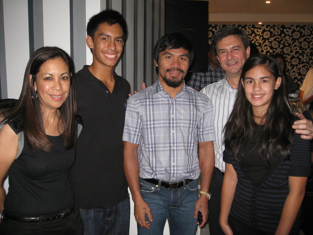 The Squillantinis with Manny Pacquiao