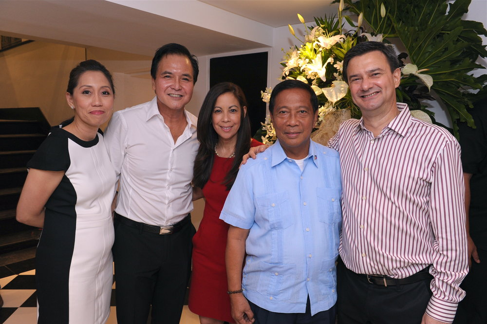 Irene Montemayor, Yong Nieva, Sandie Squillantini, former Vice President Jejomar Binay, and Enzo Squillantini