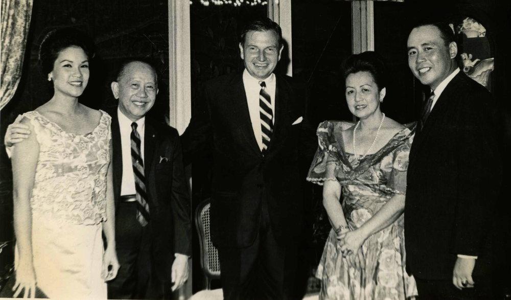 With David Rockefeller