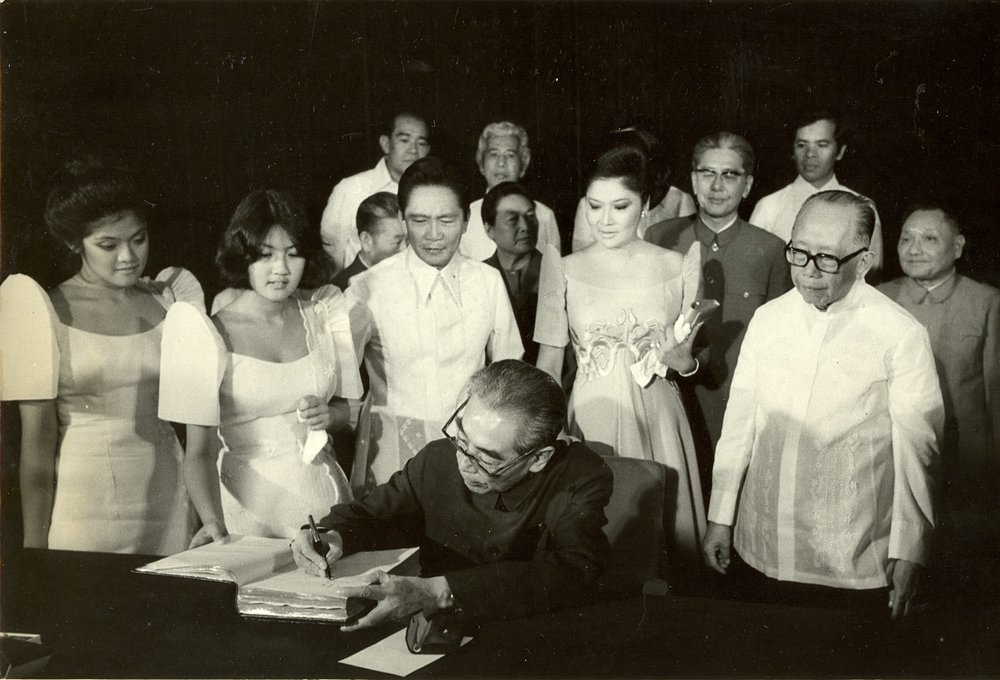 With the Marcoses and Chou En-Lai