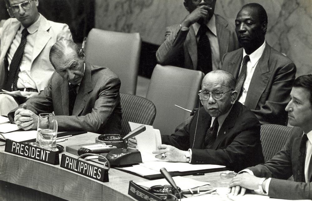 UN Sec. Council Pres CPR and UN Sec-Gen Kurt Waldheim