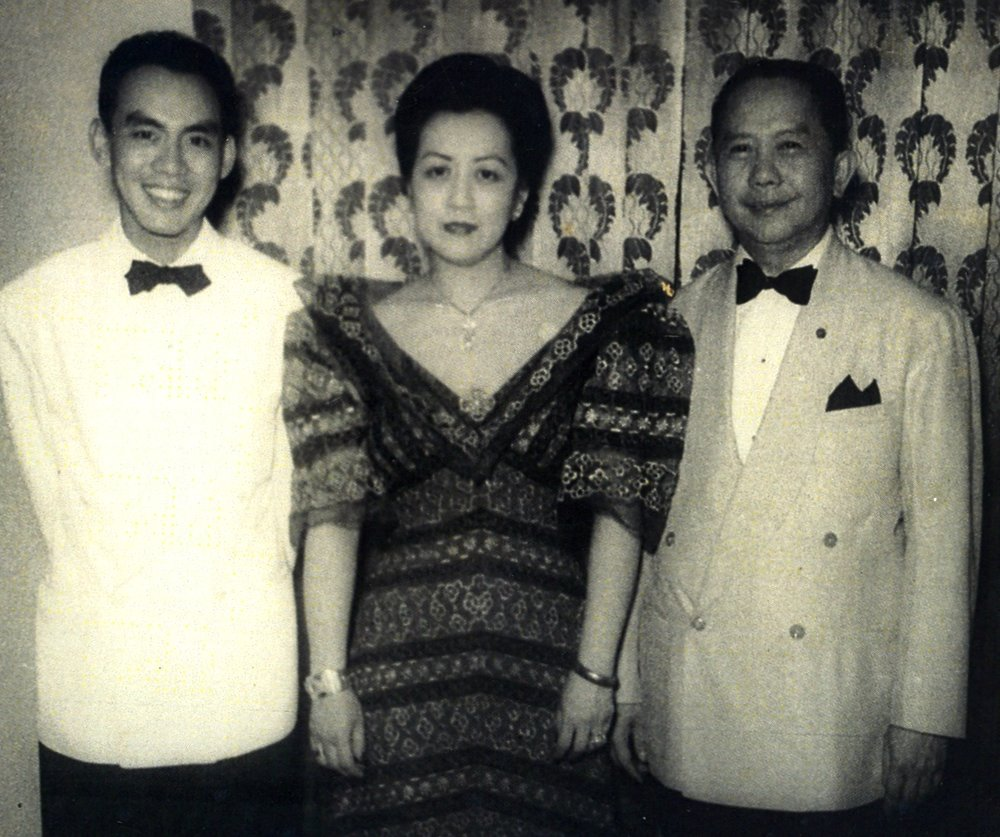 Mike with his parents