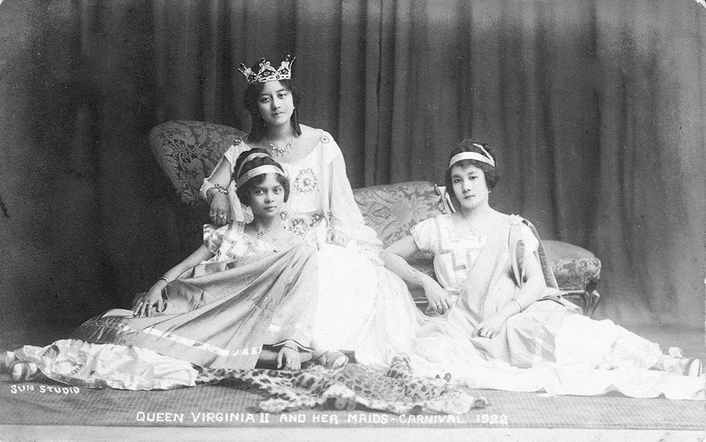 Queen Virginia and her maids
