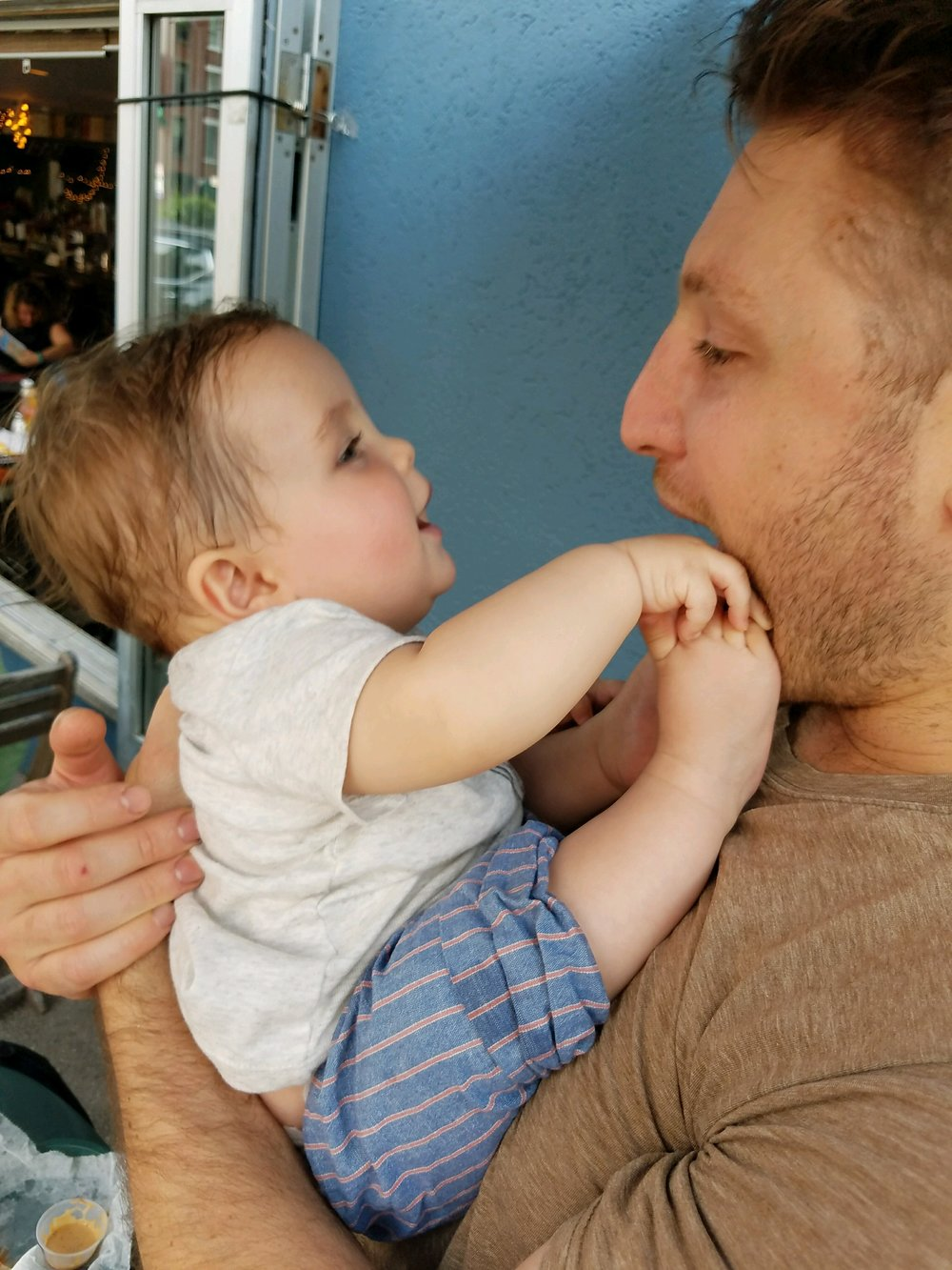 GP's Chef  Justin Schwartz  with  Baby   Rhys