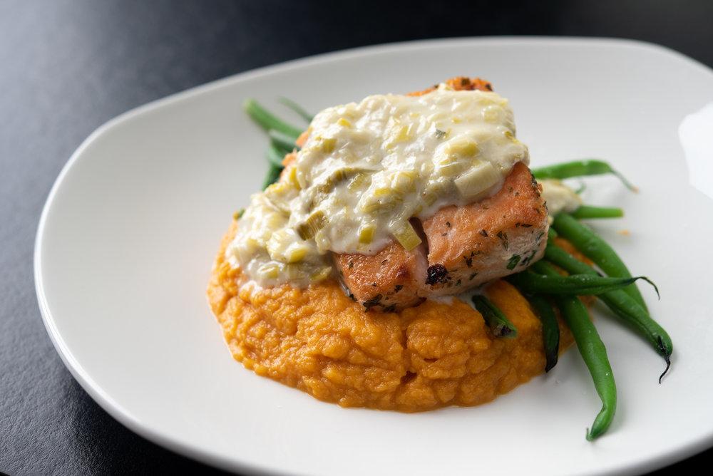Herb Salmon – Sweet Potato Mash, Haricot Vert, Lemon Parsley Sauce_9.20.18__Chip Klose5.jpg