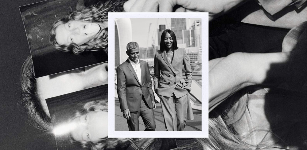 Image Credits: Below, Gisele Bundchen shot by Jamie Hawkesworth for Italian Vogue, February 2018 Above, London mayor Sadiq Khan and Naomi Campbell for British Vogue, December 2017