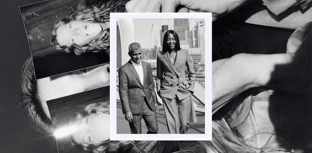 Image Credits: Below, Gisele Bundchen shot by Jamie Hawkesworth for Italian Vogue, February 2018 Above, London mayor Sadiq Khan and Naomi Campbell for British Vogue, December 2017