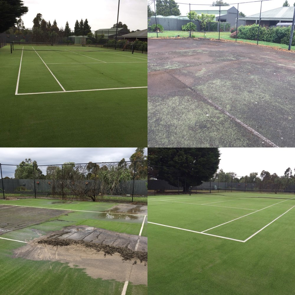 Tennis Court | Water Blasting