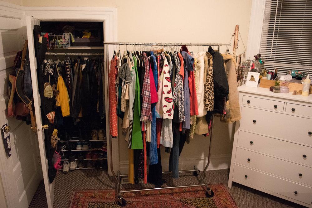 The before: Not my capsule wardrobe.