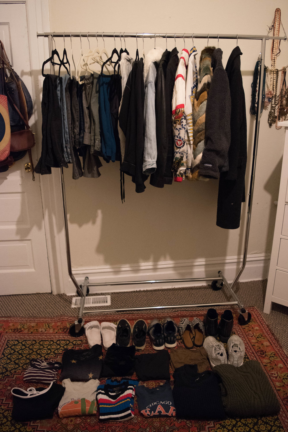 My capsule wardrobe, front and center.