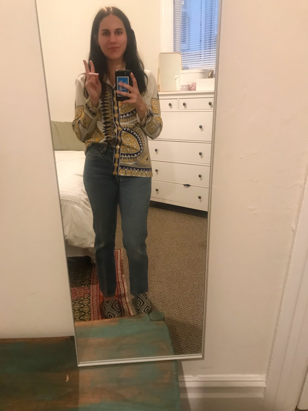 Peace out. Thanks for reading. I'm in a vintage 70s light jacket from the  Alameda Point Antiques Faire , vintage  Levi's , and  Asos   Park Lane mules .