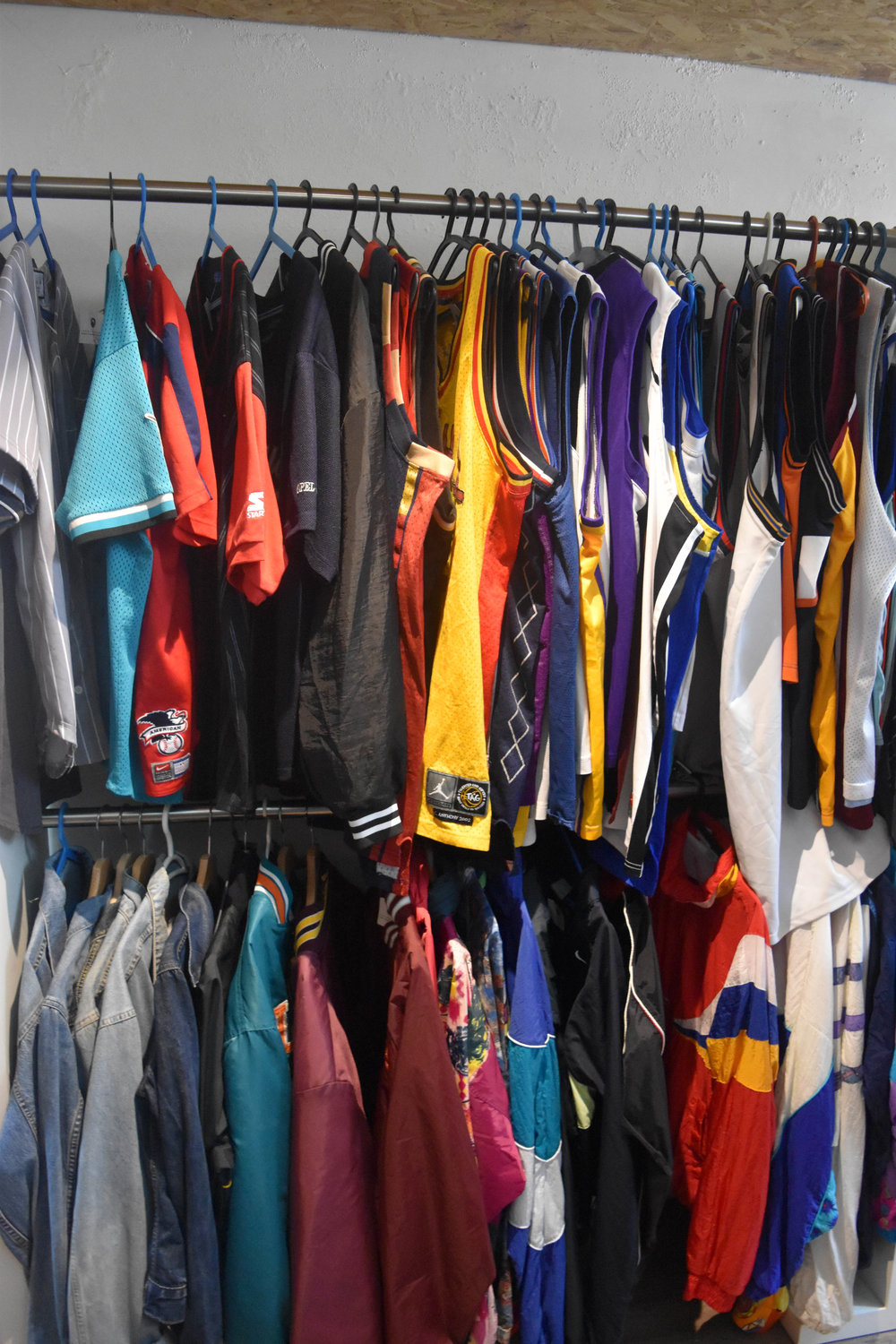 Need a jersey? A colorful windbreaker? Come here.