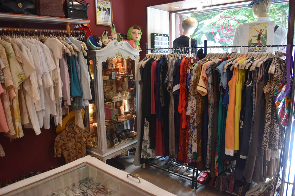 The store houses vintage wears and more modern secondhand finds.