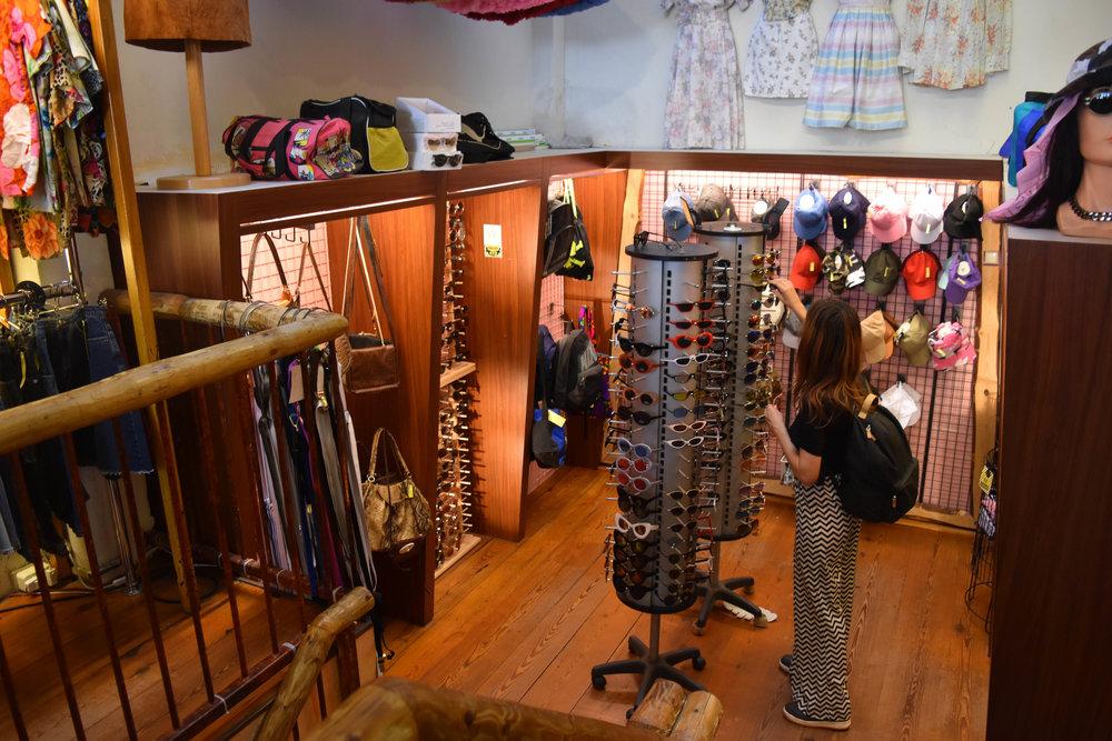 Multiple floors housed vintage accessories.