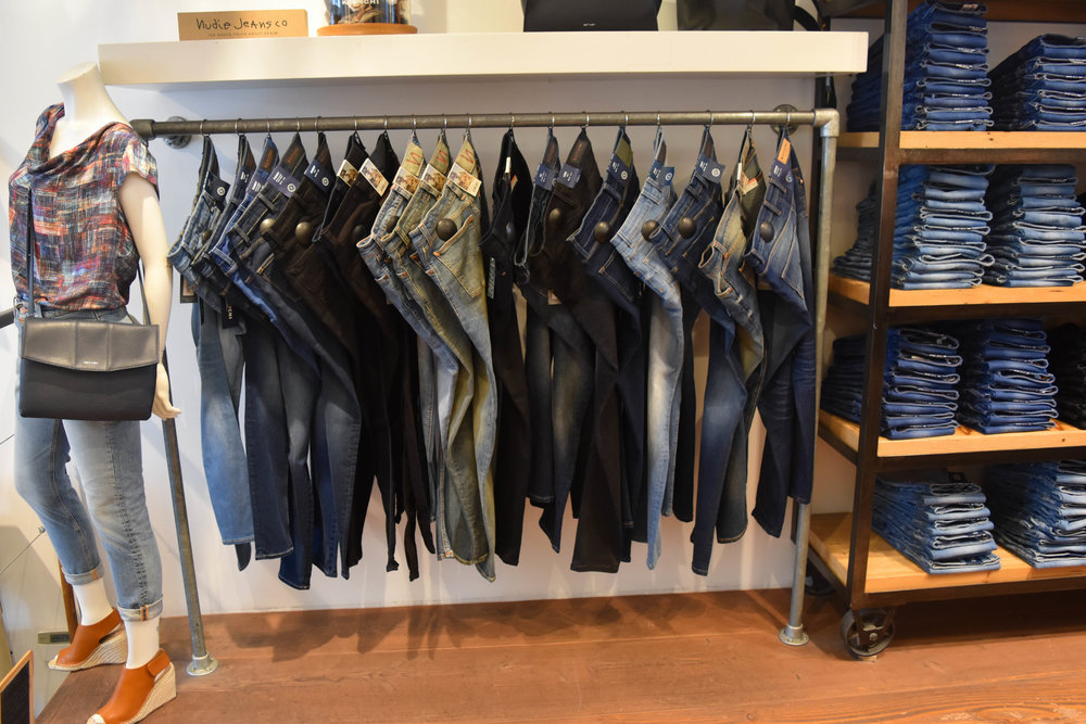 This is the shop for sustainable denim. Check out  Nudie Jean Co's 100% organic cotton denim .