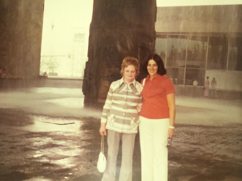 Genevieve with her mom Adele in Mexico City in the early 70s.