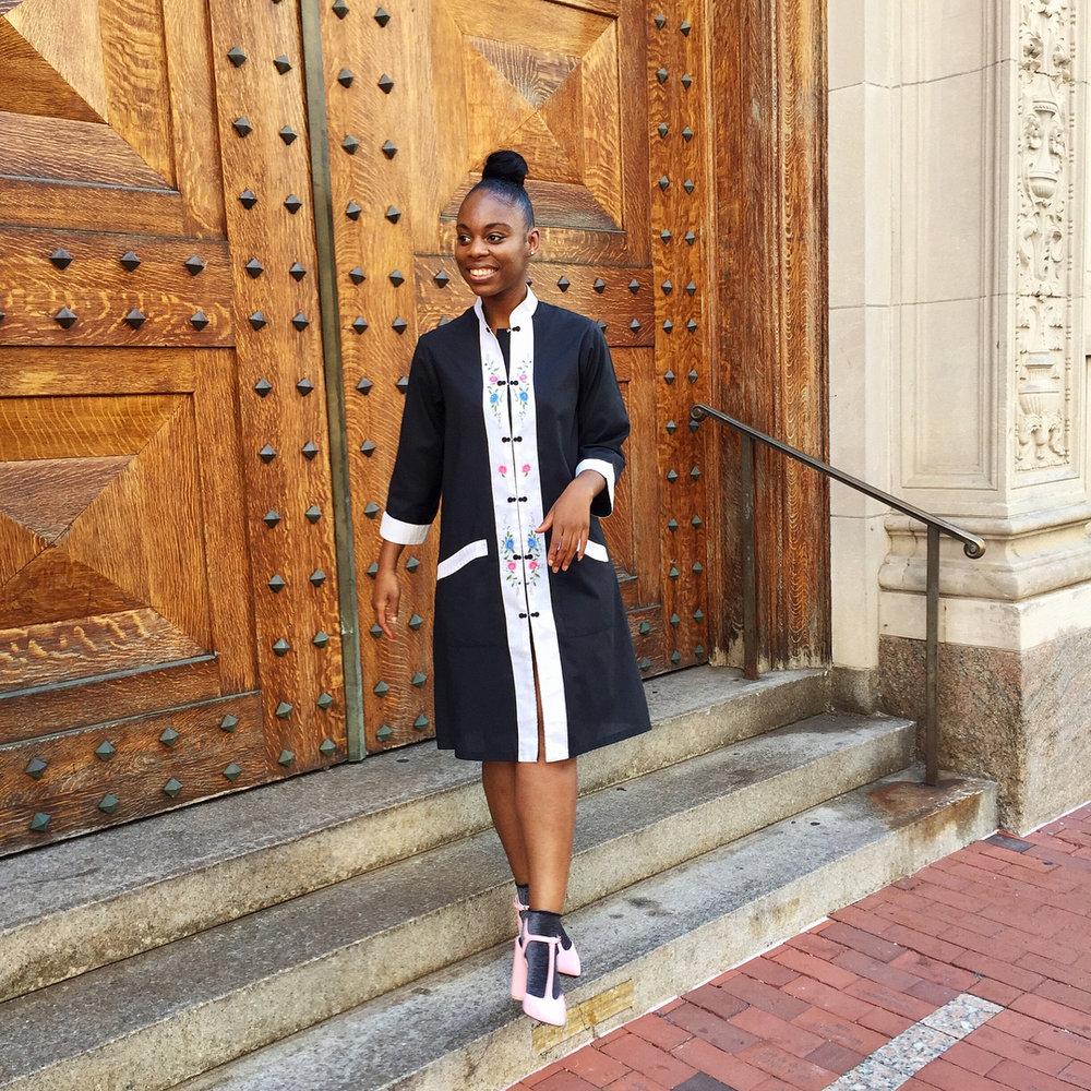 Karissa discovered this Asian house coat at  The Vault RI .