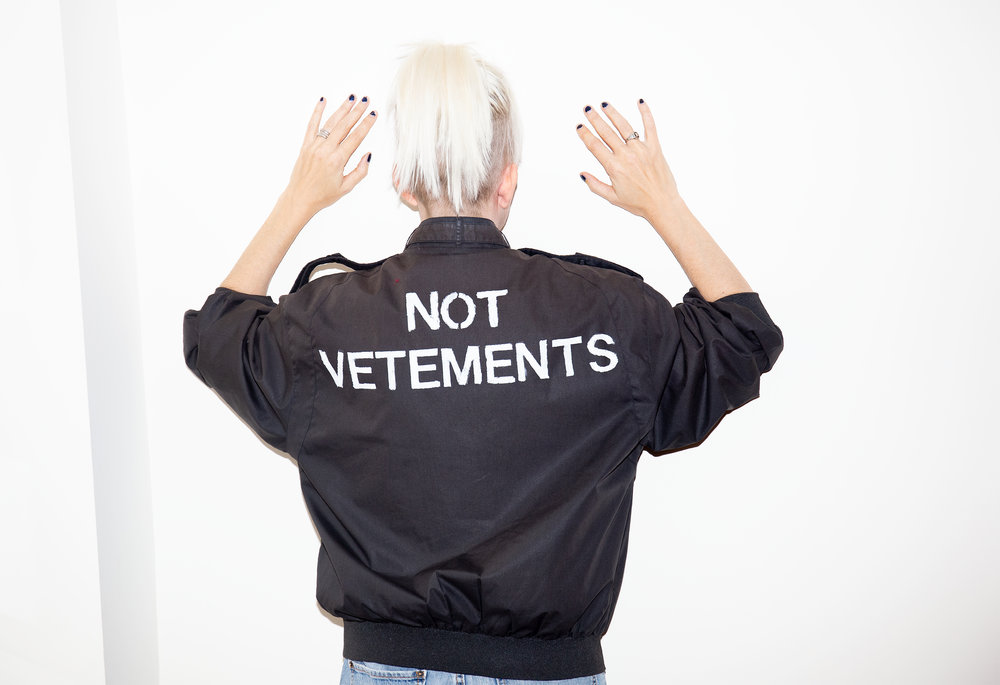 Not Vetements and not taking fashion too seriously.