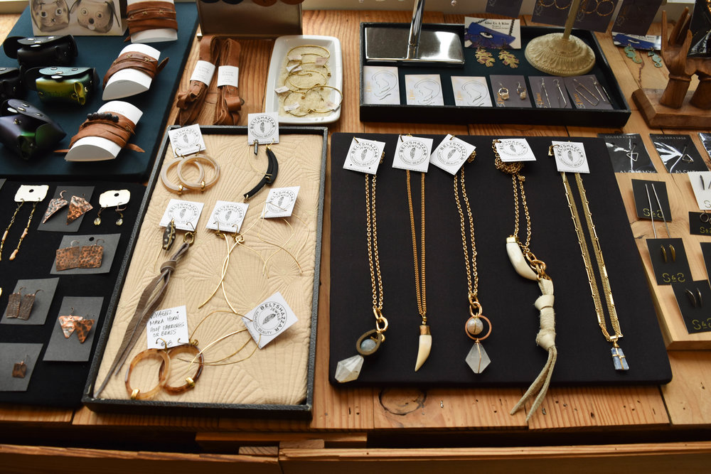 Beltshazzar Jewels  range from $50 - $200. Made in other Midwest hub—St. Louis.
