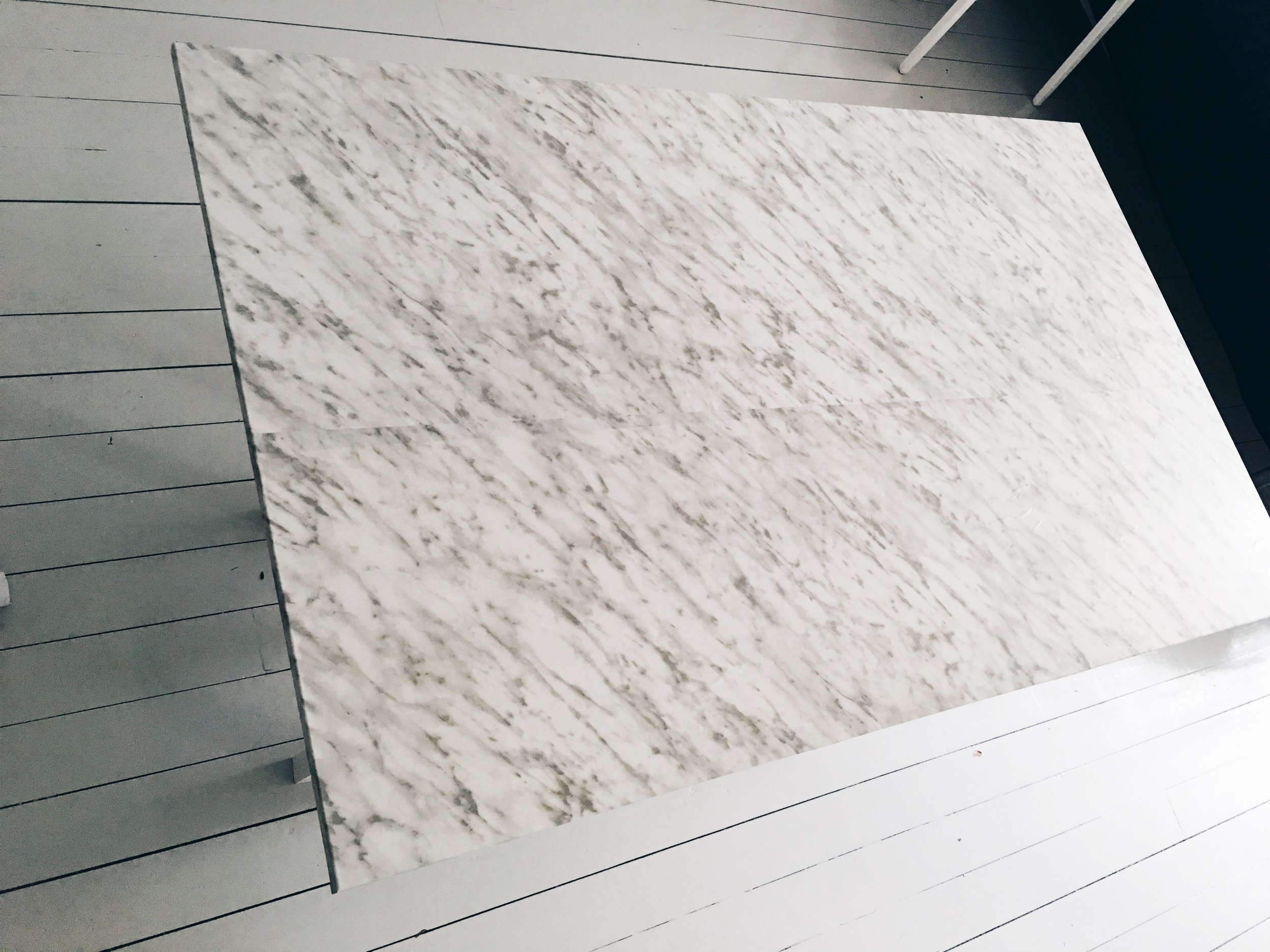 Marble contact paper table