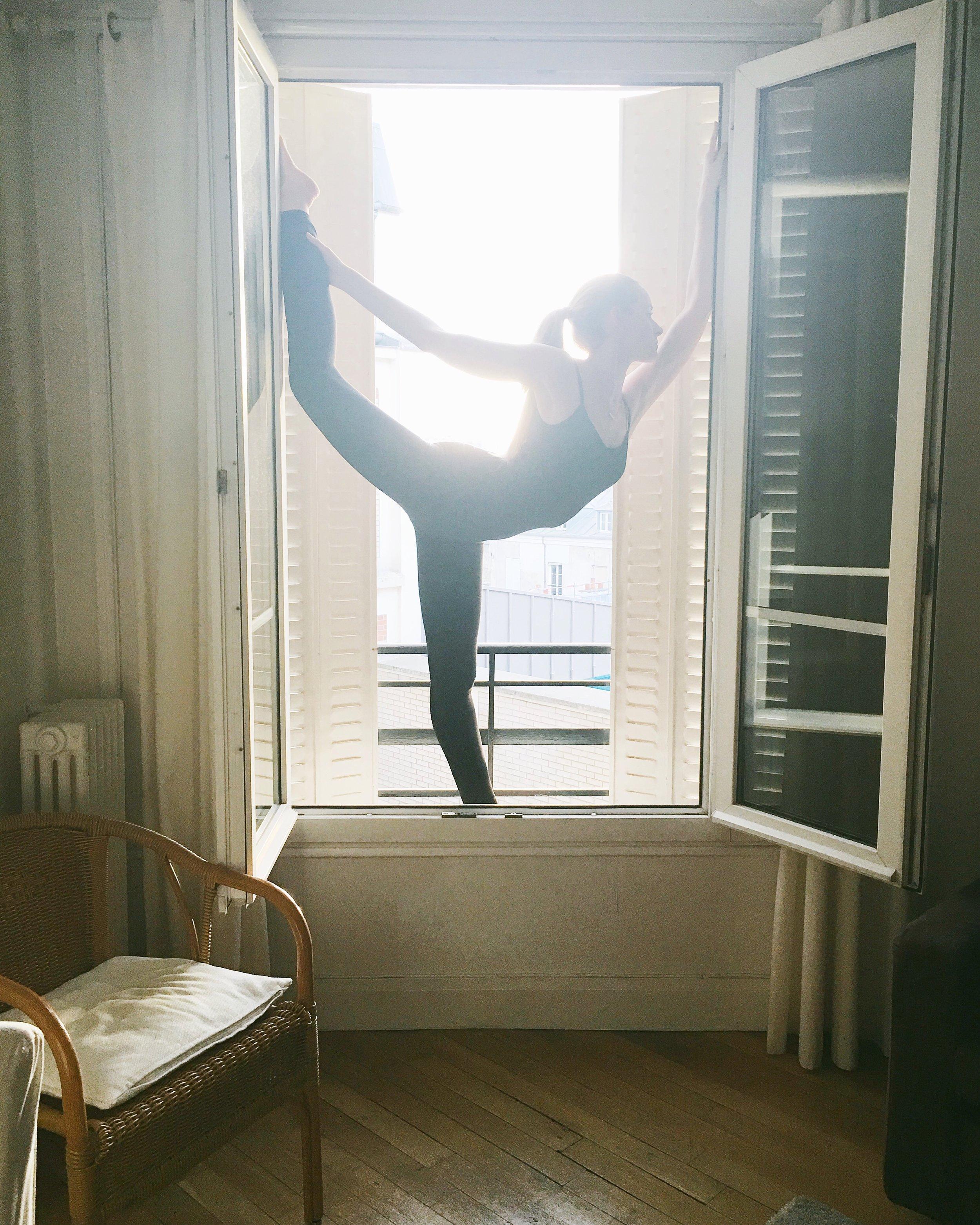 dancers pose in paris