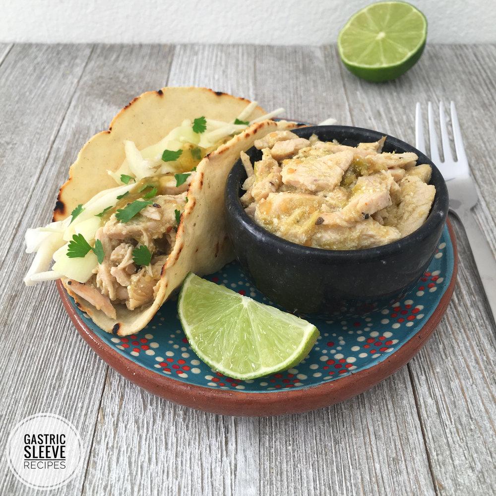 Salsa Verde Chicken Tacos -