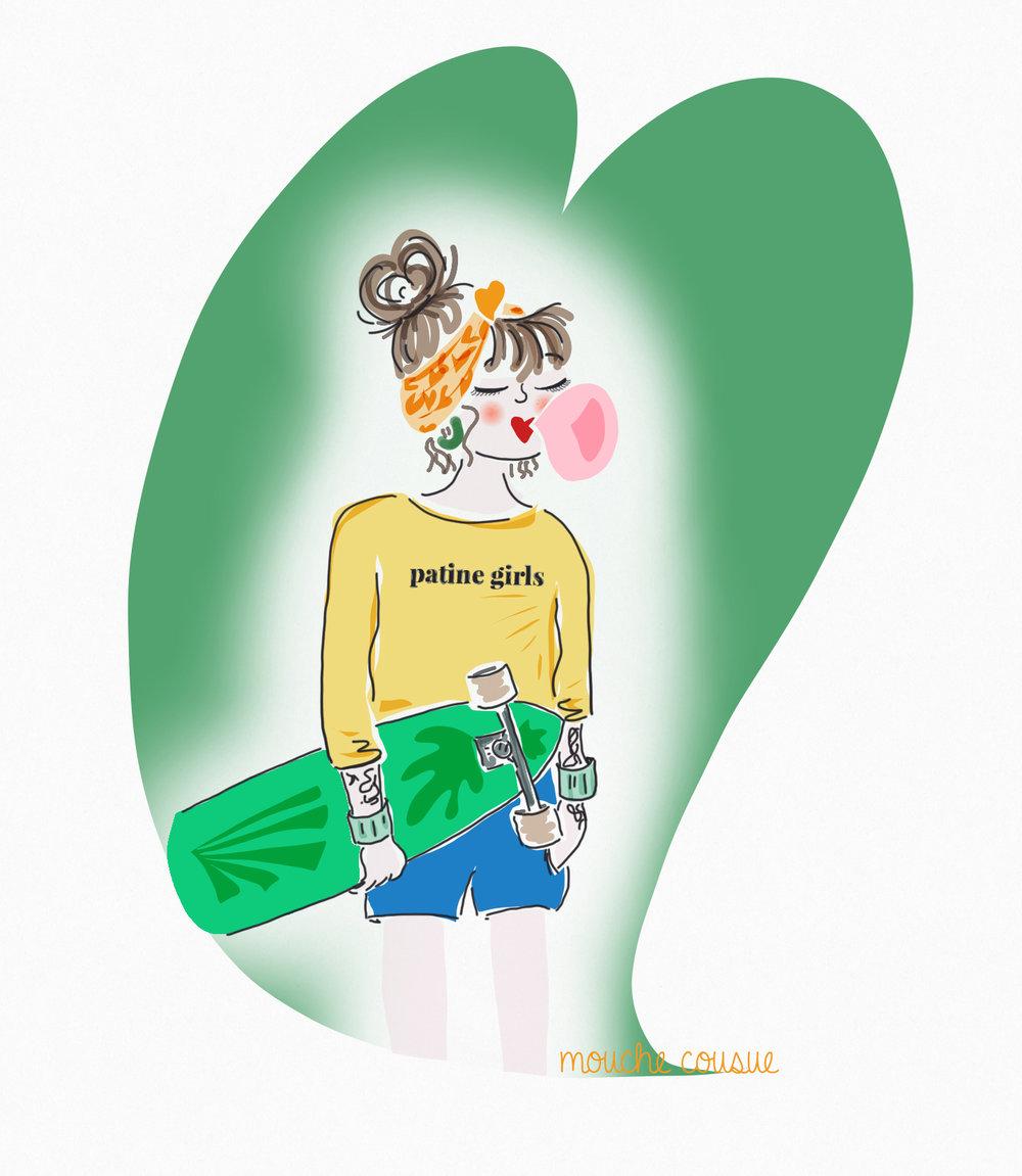 illustration mouche cousue