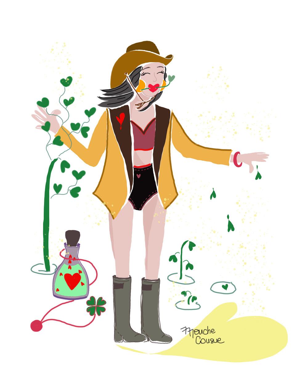 Illustration Mouche Cousue - Dealer d'Amour
