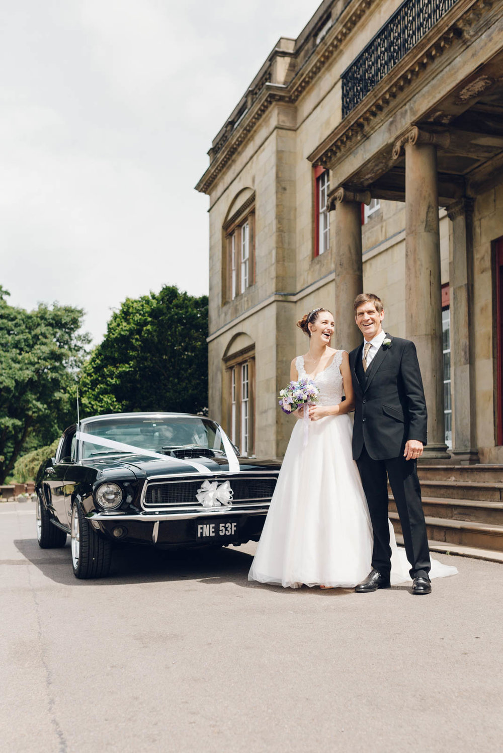 Bride, Father and car