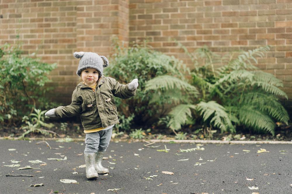 Autumn family walks