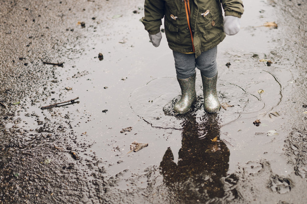 Puddles are always fun!
