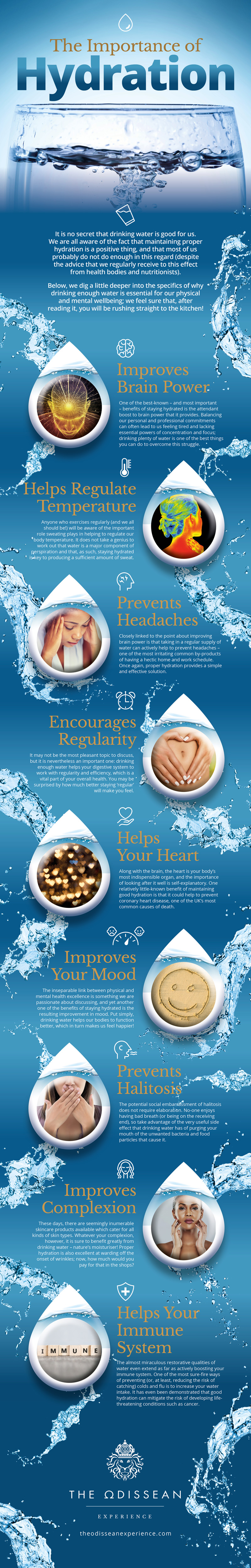 The Importance of Hydration - infographic