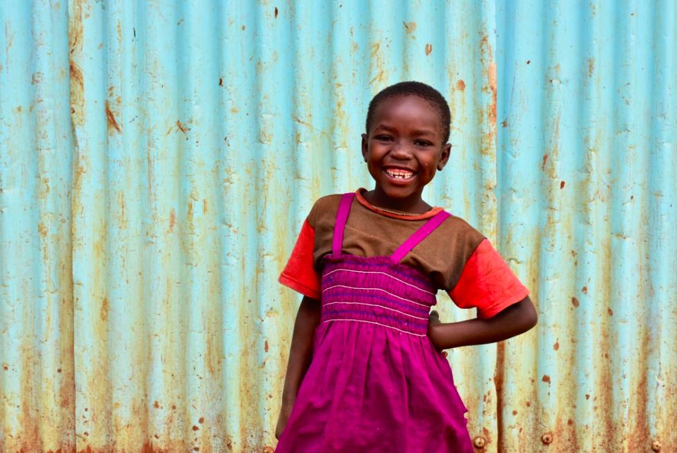 Girl from Kibera, Kenya