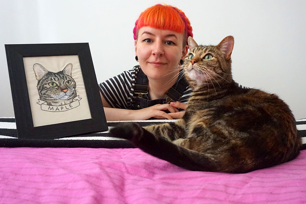#138 Leigh Bowser - She created a Craftivist textile campaign called The Blood Bag Project in university, and since then it's blown up and been featured in a ton of books, magazines and newspapers, doing it's job of raising awareness for Diamond Blackfan Anaemia. Since leaving University, she's become a freelance textile artist, selling custom made pet portraits and patches, guest tutoring at her university, tutoring adults with special needs in textiles and ceramics, and worked for the likes of Jo Malone. She works hard each and every day of her life, has managed to make her passion her lifestyle and lives and breathes creativity. She's a total bad ass babe.WebsiteTwitterInsta