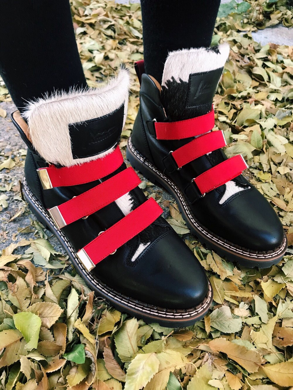 Swiss made Ammann Red Strap Boots